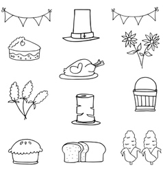 Doodle of hand draw thanksgiving vector image
