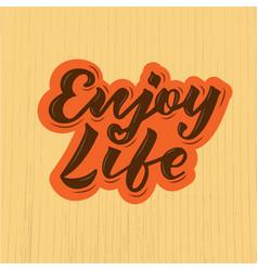 enjoy life logotype flyer banner vector image