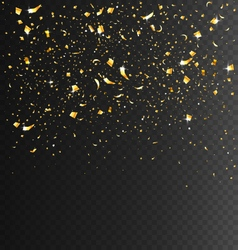 Festive Celebration Golden Confetti on Transparent vector