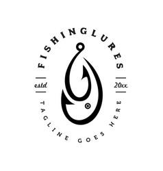 fishing lures logo vector image