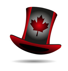 Flag of canada on a hat vector
