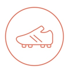 Football boot line icon vector image vector image