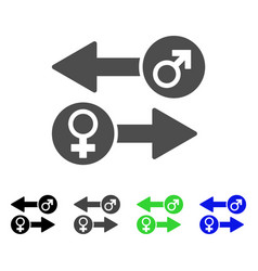 Gender exchange icon vector