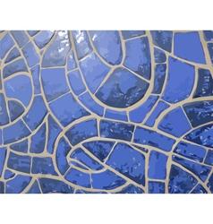 Glazed blue stone mosaic texture vector