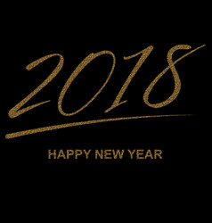 gold happy new year text for lettering vector image