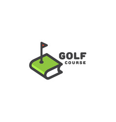 golf course logo vector image