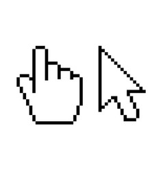 hand and arrow cursor icon on white vector image