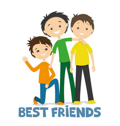 Happy best friends vector