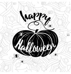 happy halloween banner holiday calligraphy vector image