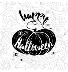 happy halloween banner holiday calligraphy vector image