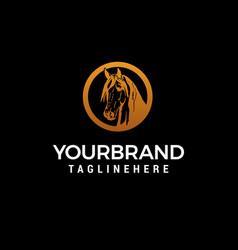 head horse luxury logo design concept template vector image