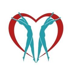 heart body female vector image