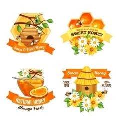Honey advertising labels vector