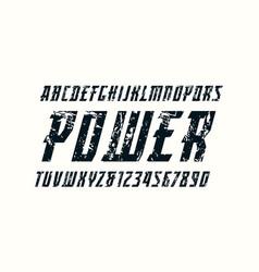 Italic serif font in sport style vector
