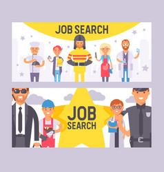 job search set banners vector image