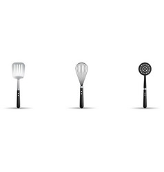 kitchen utensils isolated on white background vector image
