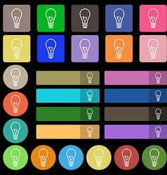 Light bulb icon sign Set from twenty seven vector image
