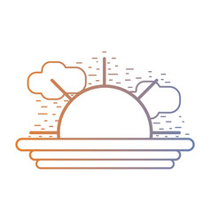 line sun ray with natural weather vector image