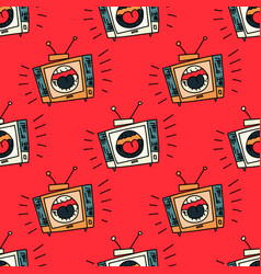 Loud television seamless pattern vector