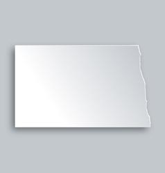 Map of North Dakota vector image