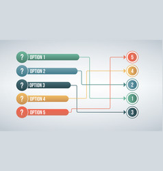 modern color 6 connect options match infographic vector image