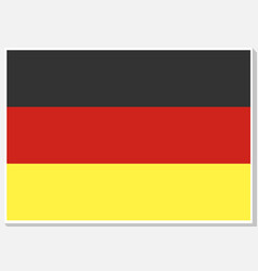 national germany flag vector image