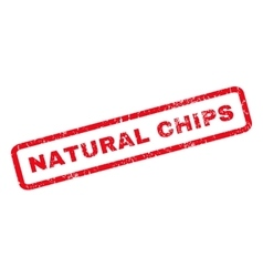 Natural Chips Rubber Stamp vector image