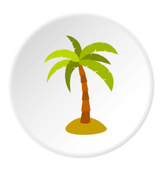 Palm icon circle vector
