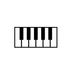 piano logo graphic design template vector image