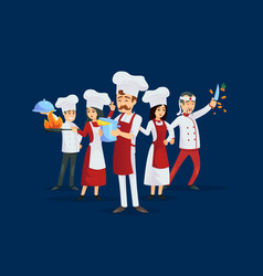 Professional kitchen staff recruitment concept vector