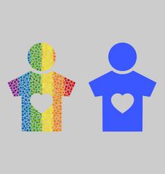 Rainbow boyfriend mosaic icon round dots vector