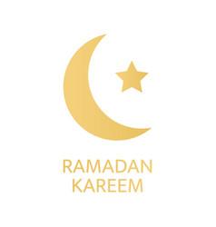ramadan kareem greeting card golden crescent vector image