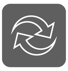 Refresh Arrows Flat Squared Icon vector image
