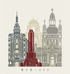 Rosario skyline poster vector