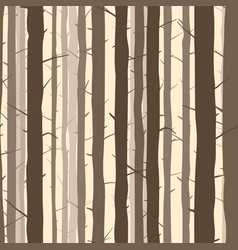 Seamless background with many tree trunks vector