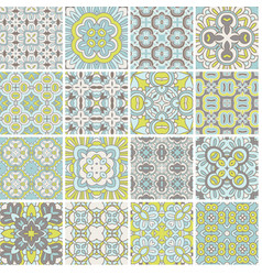 seamless decorative patterns set vector image