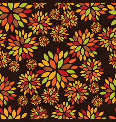 seamless pattern with autumn colour vector image vector image