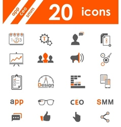 Set of icons app seo smm vector