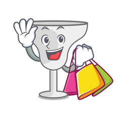 Shopping margarita glass character cartoon vector