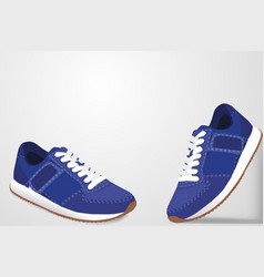 Sneakers with shadow on a white background vector