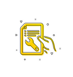 Spanner tool icon repair service document sign vector