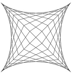 Square spider web grid trap net trap vector