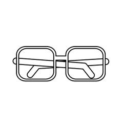 Squared glasses over white vector