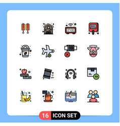 Stock icon pack 16 line signs and symbols for vector