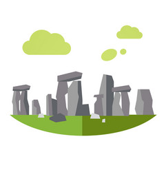 stonehenge in flat style vector image