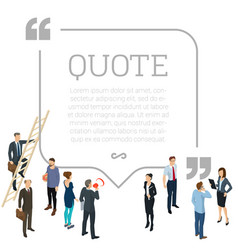 testimonials quote shape concept vector image