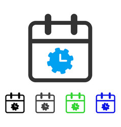 Time service day flat icon vector