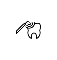 ultrasonic cleaning hygiene dental care icon in vector image