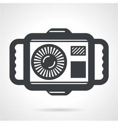 Underwater camera flat icon vector