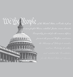 Us capitol - we people vector
